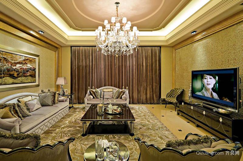 400平米新古典主义风格别墅室内装修效果图案例