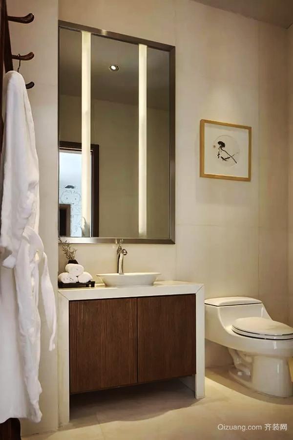209平米中式风格朴素自然别墅室内装修效果图