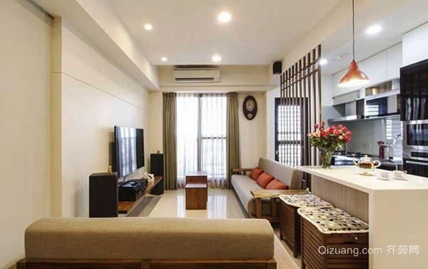 87平米宜家风格简约浅色两室两厅装修效果图