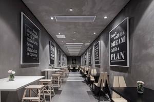 后现代风格灰色调咖啡厅设计装修效果图赏析