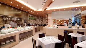 100平米现代简约风格自助餐厅装修效果图赏析