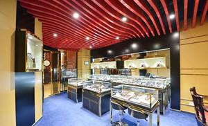 90平米现代风格珠宝店展柜设计装修效果图