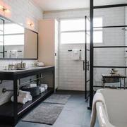 北欧风格简约白色基调卫生间装修效果图赏析