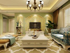 63平米地中海风格混搭时尚一居室装修效果图案例