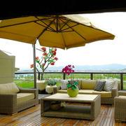 东南亚风格别墅露天阳台设计装修效果图赏析