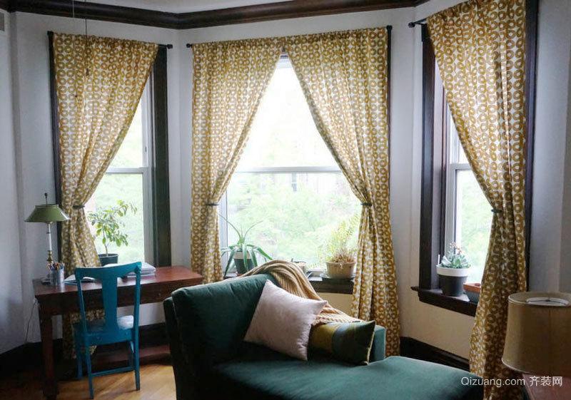东南亚风格别墅室内书房窗帘设计装修效果图赏析