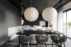 后现代风格黑白色餐厅装修效果图大全