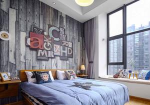 后现代风格创意卧室背景墙装修效果图欣赏