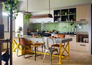 混搭风格创意厨房餐厅装修效果图欣赏
