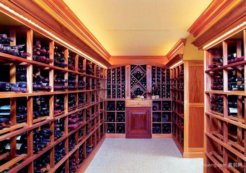美式风格超豪华别墅酒柜设计装修效果图赏析