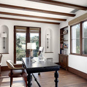 美式乡村风格别墅室内书房装修效果图赏析