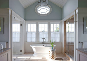 欧式风格别墅室内浅色精美卫生间装修效果图