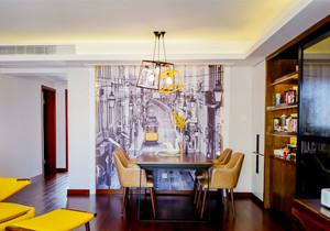 现代风格大户型精致餐厅背景墙装修效果图赏析