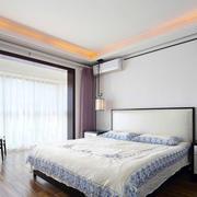 新中式风格浅色温馨主卧室装修效果图赏析