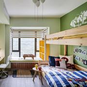 宜家风格简约绿色儿童房装修效果图鉴赏