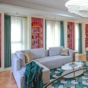 30平米混搭风格别墅时尚衣帽间设计装修效果图