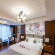 中式风格精致卧室背景墙装修效果图赏析