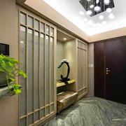 中式风格大户型精致玄关设计装修效果图赏析