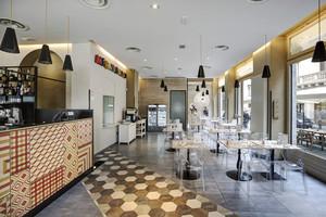 140平米后现代简约风格西餐厅设计装修效果图