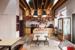 简约风格文艺咖啡厅柜台设计装修效果图