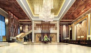 欧式风格华丽奢侈酒店大堂吊顶设计装修效果图