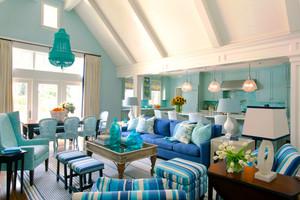 地中海风格别墅请新蓝客厅装修效果图赏析