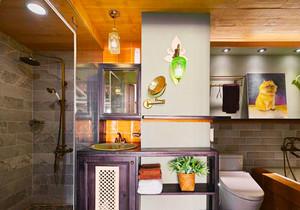 混搭风格时尚创意卫生间淋浴房装修效果图欣赏
