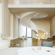 现代简约风格客厅旋转楼梯设计装修效果图赏析