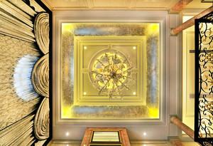 380平米欧式风格奢侈宫廷风别墅室内装修效果图