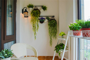 88平米田园风格清新两室两厅室内装修效果图欣赏