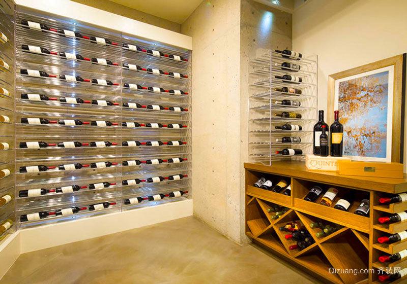 现代风格大户型精致玻璃酒柜设计装修效果图赏析