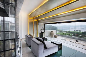 160平米现代风格轻奢主义复式楼装修效果图赏析