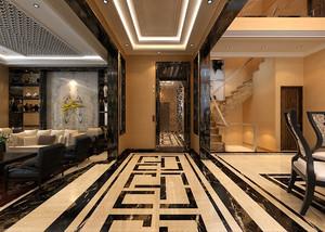 376平米中式风格现代别墅室内装修效果图案例