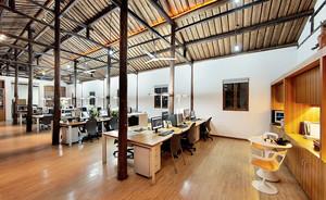 后现代风格简约办公室吊顶设计效果图
