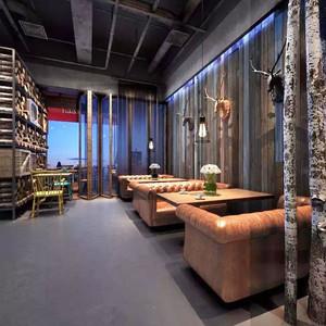 400平米美式风格创意酒吧设计装修效果图