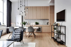74平米北欧风格简约清新两室两厅室内装修效果图