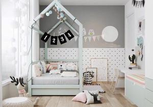 清新活泼可爱儿童房设计装修效果图大全