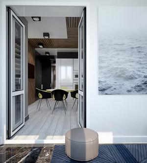 61平米后现代风格极简主义单身公寓装修效果图赏析