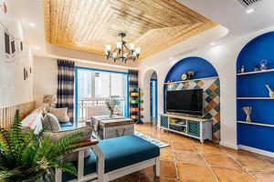 105平米地中海风格精美三室两厅室内装修效果图赏析