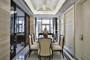 简欧风格大户型精致餐厅吊顶设计装修效果图赏析