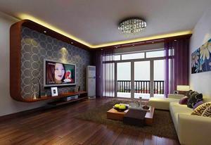 现代风格深色系客厅电视背景墙装修效果图赏析