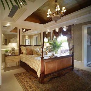 189平米美式田园风格粗犷别墅室内装修效果图