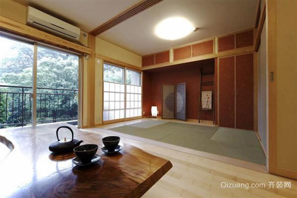 72平米日式风格禅意舒适两居室装修效果图