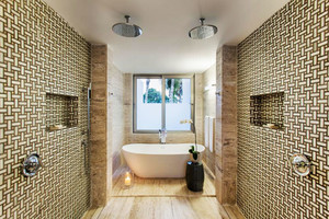 后现代风格大户型卫生间瓷砖设计装修效果图
