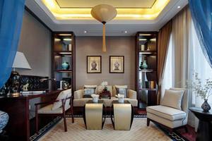 150平米奢华中式风格三室两厅两位装修效果图案例