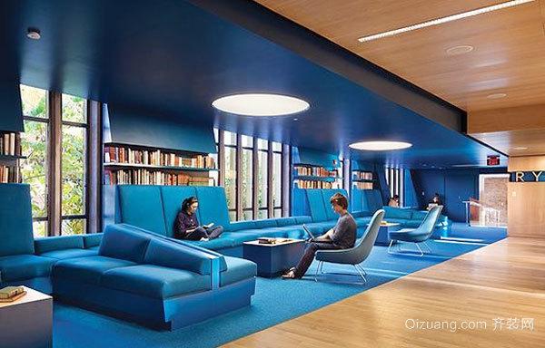 新中式风格办公室吧台设计装修效果图