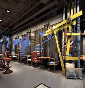 96平米时尚混搭风格餐厅设计装修效果图赏析