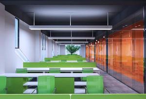 80平米现代风格中型会议室装修效果图案例