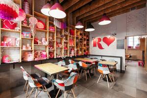 60平米时尚混搭风格咖啡厅设计装修效果图