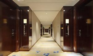 中式风格精致酒店过道设计装修效果图案例